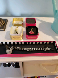 STERLING SILVER JUICY COUTURE BRACELET & CHARMS