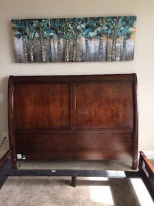 Queen Size Sleigh Headboard and Frame