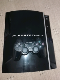 Official play station 3 consolo(ps3) with a controller and chargers