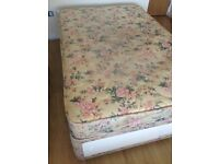 Small double 3/4 size divan bed / drawers & mattress - can deliver