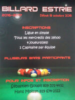 Inscriptions de la ligue de billard 2016-2017