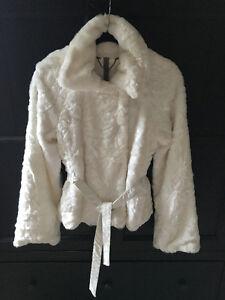 White Fake Fur Coat