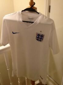 ⚽️ 2014 England Nike Dri-fit Mens White T shirt pristine