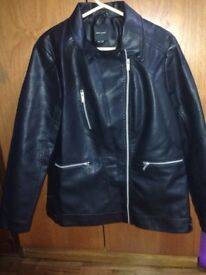 New Look Faux Leather Jacket rrp 35.00