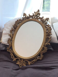 "Ornate antique framed wall mirror for sale – 30""h 20""w"