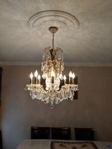 Beautiful Czech crystal Gold Plated Chandelier