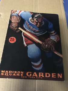 VINTAGE 1953 NEW YORK RANGERS MADISON SQUARE GARDENS PROGRAM