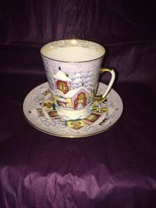 Winter Day Cup and Saucer
