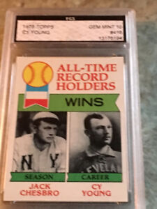 1979 Topps #416 All-Time Record Holders Jack Chesbro Cy Young