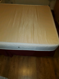 Bed and memory foam mattress