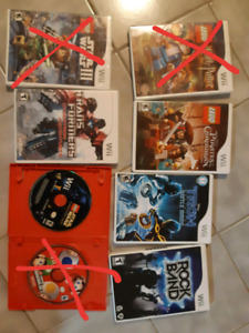 Wii games/jeux wii