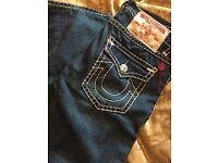 True religion jeans not gucci armani prada