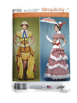 Simplicity 8159 Sewing Pattern Cosplay Steampunk Costume Size 14 16 18 20 22 NEW