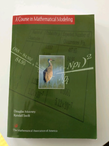 MATH 2300 textbook - A Course in Mathematical Modelling