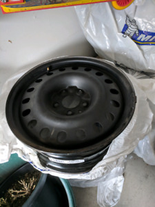 """Set of four used 17""""x6.5 5x114.3 steel rims"""