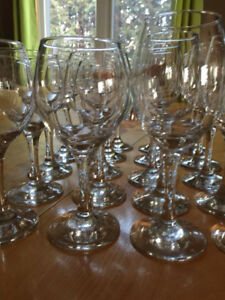 Brand New Wine Glasses - 20
