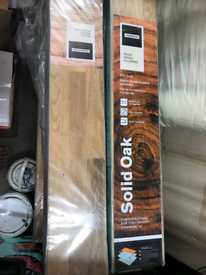 Real wooden floor 37 pack and underlay