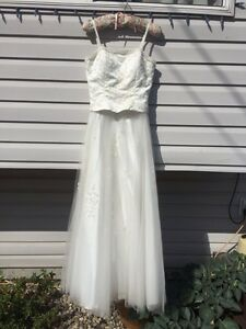 Beautiful formal dress, champagne color, approx size 4-6