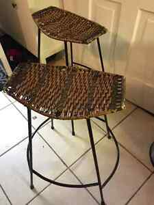 2 wrought iron stools $50 for both London Ontario image 2