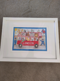 Children's Painting, London Bus by Milly Green