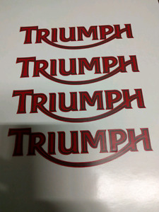Triumph bike decals