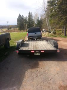 18 foot tandem car trailer