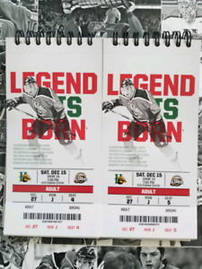 2 LB Mooseheads tickets for Saturday Dec 15th
