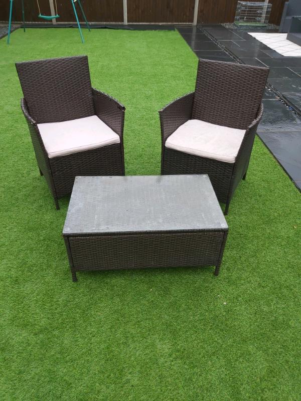 Strange 2 Seater Rattan Garden Set In Norwich Norfolk Gumtree Dailytribune Chair Design For Home Dailytribuneorg