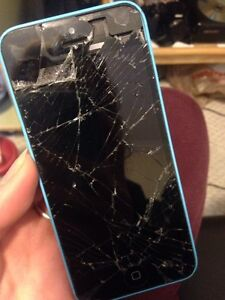 Broken iPhone 5c selling for parts