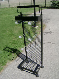 Metal Display stand on casters