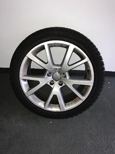 Dunlop SP 235/45R19 Winter Tires with Audi Rims