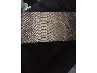 Brown snake skin purse BN