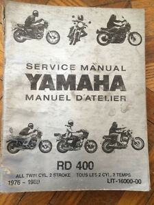 Yamaha RD400 Factory Service Manual
