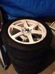 "17"" white tuner rims for sale."