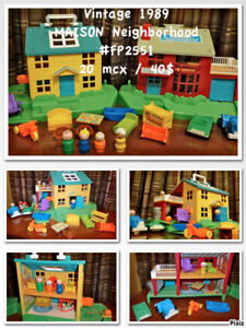 Vintage Fisher-Price Maison Neighbordhood  20 mcx  40$