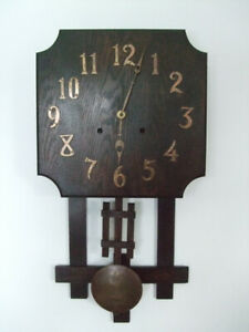Arts and Crafts Stickley style wall clock circa 1910