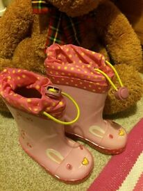 Brand new in box Clarks wellies size 4