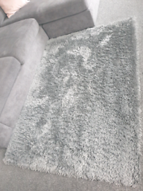 Next Grey Huggle Extra Soft Shaggy Rug 120x170cm