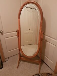 Wood Floor Cheval Mirror