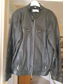 Mens leather jacket (large)