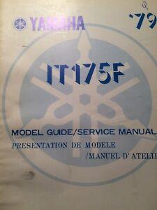 1979 Yamaha IT175F Model Guide /Service Manual