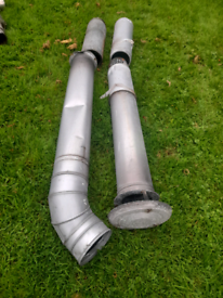 4 pieces oil central heating flue pipes