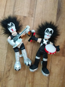 KISS BAND PLUSH TOY DOLLS GENE SIMMONS AND PETER CRISS, poupées