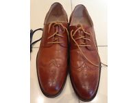 Route 21 mens brown brogue shoes