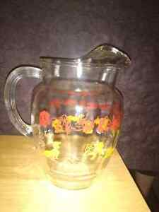 Large vintage glass water  jug