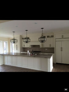 Fancy and Prestigious Custom Kitchen Cabinet & Quartz Countertop