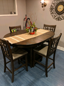 Counter height dining set for sale.