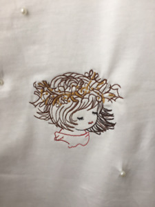 Simon's brand women's shirt with customized Embroidery