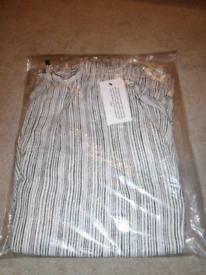 Striped Linen Trousers (ladies size 12 short)