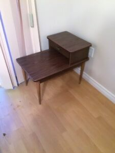 old retro end tables